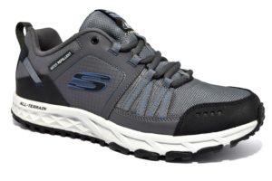 skechers 51591 ccbl grigio sneaker scarpe uomo sport lacci blu