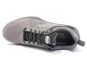 skechers 52927 gycc grigio sneaker SCARPE ESTIVE UOMO AIR COOLED MEMORY FOAM LACCI SPORT PALESTRA