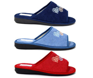 3rose 110 blu avio rosso ciabatte pantofole con fodera in spugna di cotone con zeppa adatte per essere usate in casa