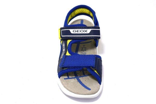 geox j929dc 014bu c0749 navy lime flexyper sandali da bambino regolabili con due strappi con sottopiede in vera pelle
