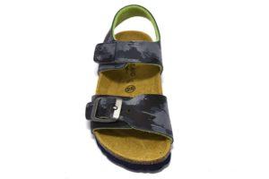 grunland luce sb1310 40 blu lime Sandali da bambino con sottopiede in sughero e regolabili con uno strappo