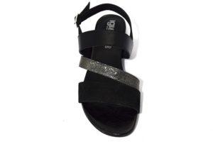 IgieCo 3183100 Nero IGI&CO Sandali bassi eleganti da donna in vera pelle tacco 1 cm collezione primavera estate