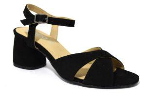 igieco 3186333 nero sandali con cinturino in camoscio da donna tacco medio collezione primavera estate