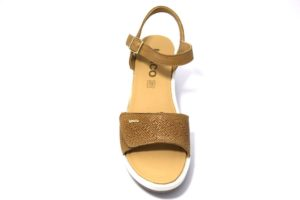 igieco 3174122 beige cuoio sandali donna co zeppa Igi&co regolabili con uno strappo ed una fibbia