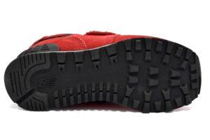 new balance yv574eo scarpe da ginnastica rosse con strappi in camoscio sneakers bambino