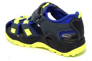primigi 3397622 avio blu giallo sandali da bambino chiusi a gabbia regolabili con uno strappo