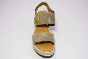igi e co 3173399 platino sandali a zeppa da donna con tre strappi