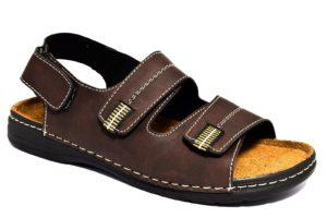 arizona by patrizia 638 t moro sandali con strappi da uomo con sottopiede in vera pelle