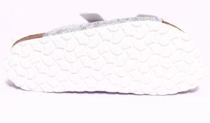 bio alpes 0014 bianco argento ciabatte estive in sughero da donna primavera estate