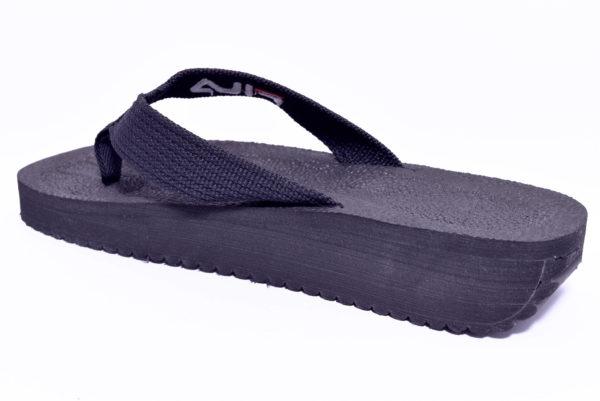 fila 1010290 25y tomaia tbar nero slipper ciabatte infradito da piscina e da mare da uomo in tessuto primavera estate