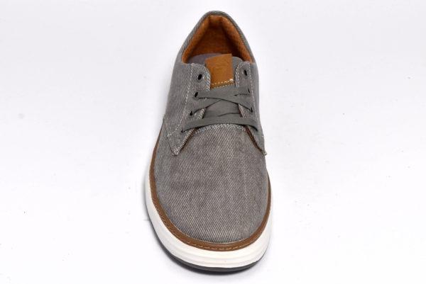 skechers 65981 tpe taupe ederson sneakers in tessuto da uomo scarpe casual stringate primavera estate sottopiede in memory foam