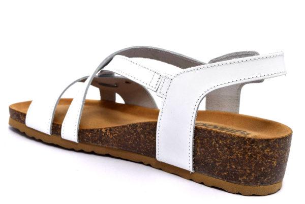 IgieCo 3198511 bianco sandali da donna con zeppa in sughero cinturino primavera estate