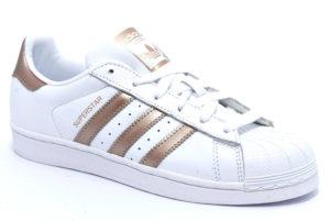 adidas ee7399 superstar bianco rame scarpe sneakers invernali da donna collezione autunno inverno