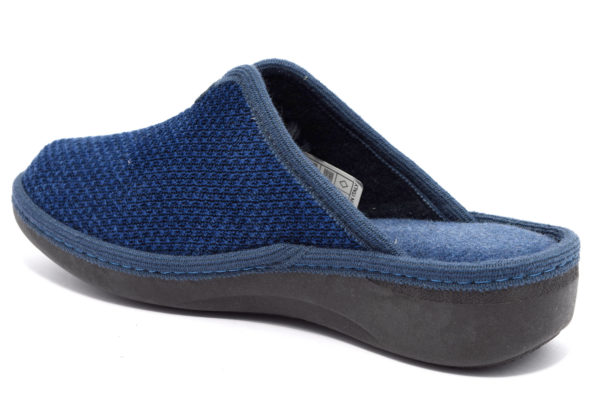 grunland alde ci1675 47 blu ciabatte pantofole panno zeppa invernali da donna collezione autunno inverno