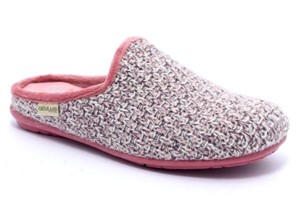 grunland faye ci2065 b5 rosa ciabatte pantofole panno zeppa invernali da donna collezione autunno inverno
