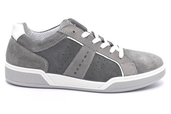igieco 3136511 grigio bianco scarpe sneakers da uomo estive con lacci primavera estate
