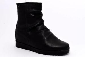 igieco 4157000 nero scarpe stivaletti con zeppa invernali da donna collezione autunno inverno