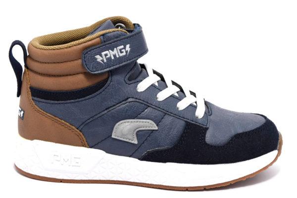primigi 4457111 grigio blu bianco polacchi sneakers invernali da bambino collezione autunno inverno