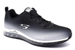 skechers 12640 bkw nero bianco scarpe sneakers memory foam air cooled invernali da donna collezione autunno inverno
