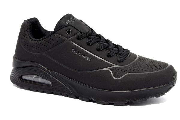 skechers 52458 bbk nero scarpe sneakers memory foam air cooled invernali da uomo collezione autunno inverno