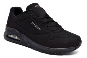skechers 73690 bbk nero stand on air sneakers scarpe da ginnastica con lacci da donna autunno inverno