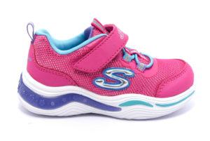 skechers 20202n npmt fucsia celeste scarpe sneakers luci invernali bambina collezione autunno inverno