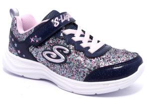 skechers 20267l nvlv blu viola rosa scarpe sneakers luci invernali bambina collezione autunno inverno