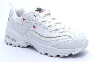 skechers 80589l wht bianco scarpe sneakers memory foam air cooled invernali bambina collezione autunno inverno