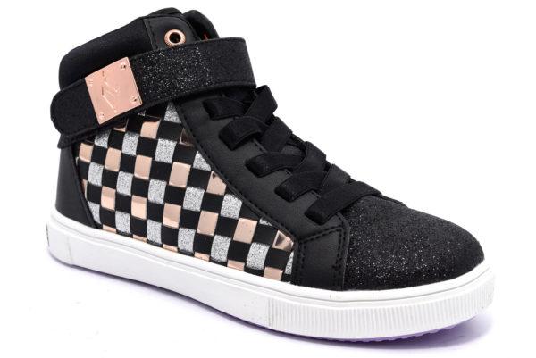 skechers 84779l bkrg nero rose gold scarpe sneakers memory foam air cooled invernali bambina collezione autunno inverno