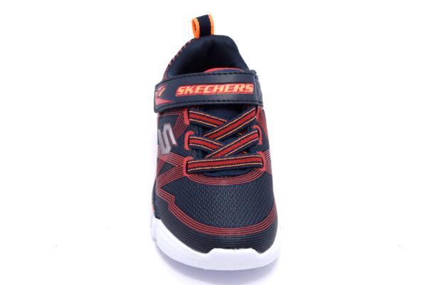 skechers 90542n nvrd blu arancione scarpe sneakers luci invernali bambino collezione autunno inverno