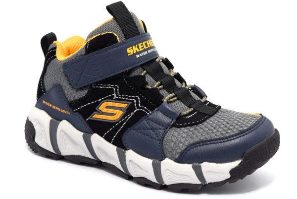 skechers 98243l nvbk blu nero giallo scarpe sneakers memory foam air cooled invernali bambino collezione autunno inverno