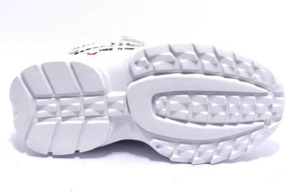 primigi 4459211 bianco scarpe sneakers invernali da bambina collezione autunno inverno