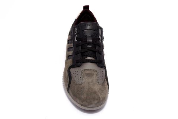 geox u948da 022fu c9147 snake stone black sneakers scarpe invernali da uomo in vera pelle invernali