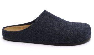 bio alpes 1949 merinos jeans Pantofole ciabatte tirolesi lana cotta feltro plantare pelle