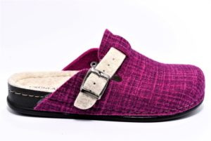 grunland reps ci2099 a6 fuxia scarpe lana cotta da infilare tacco basso ciabatte pantofole invernali da donna collezione autunno inverno