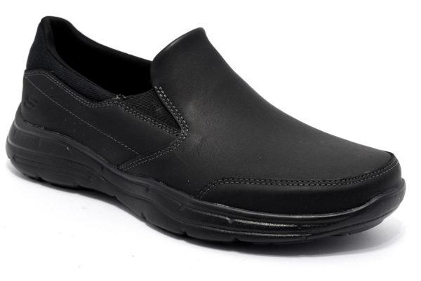 skechers 64589 blk nero scarpe slipon memory foam gel infused sneakers invernali da uomo collezione autunno inverno