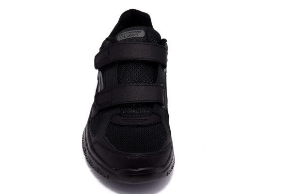 skechers 58365 bbk nero scarpe strappi memory foam air cooled sneakers invernali da uomo collezione autunno inverno