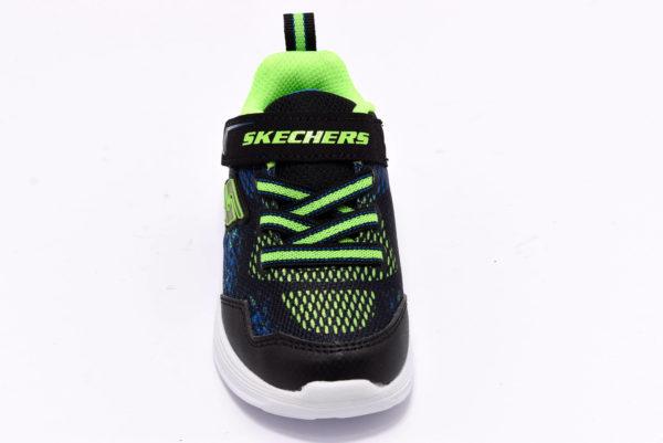 skechers 90563n bblm blu verde scarpe strappi luci sneakers invernali da bambino collezione autunno inverno
