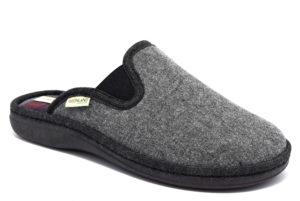 grunland enea ci1682 47 grigio ciabatte pantofole sintetico da infilare zeppa ciabatte pantofole invernali da uomo collezione autunno inverno