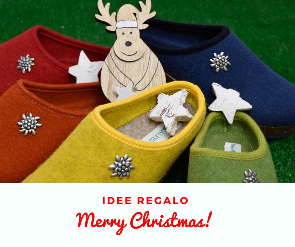 Sei a corto di idee regalo per l'imminente Natale? Scopri le nostre le nostre ciabatte o pantofole tirolesi in lana cotta, morbide, leggere e calde