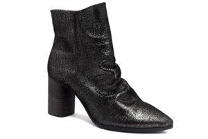 camore 9p1000 argento nero stivaletti vera pelle cerniera tacco medio stivali invernali da donna collezione autunno inverno