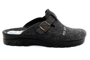 fly flot 62611 ff antracite ciabatte pantofole lana cotta da infilare ciabatte pantofole invernali da uomo collezione autunno inverno