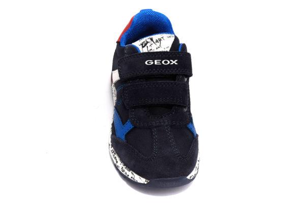 geox b943cc 0fu22 c4244 alben blu rosso scarpe camoscio strappi sneakers invernali da bambino collezione autunno inverno
