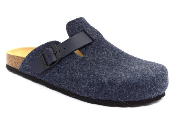 grunland robi cb0185 40 blu ciabatte pantofole lana cotta da infilare ciabatte pantofole invernali da uomo collezione autunno inverno