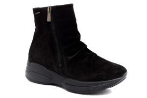 igieco 1418300 nero stivaletti vera pelle da infilare tacco medio stivali invernali da donna collezione autunno inverno