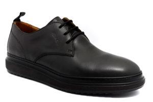 igieco 4111100 grigio scuro scarpe vera pelle lacci stringate invernali da uomo collezione autunno inverno