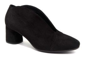 igieco 4185311 nero scarpe camoscio slipon tacco medio decollete invernali da donna collezione autunno inverno