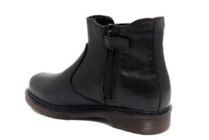 valleverde 36820 nero stivaletti ecopelle cerniera tacco basso stivali invernali da bambina collezione autunno inverno