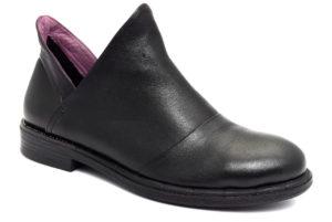 camore 9p2402 nero scarpe vera pelle slipon tacco basso stivaletti invernali da donna collezione autunno inverno