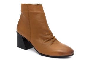 camore 9p3005 cuoio scarpe vera pelle cerniera tacco medio stivaletti invernali da donna collezione autunno inverno